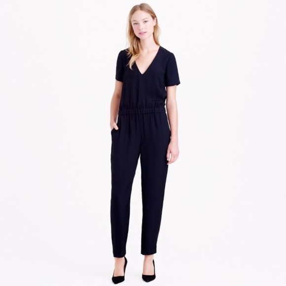 032f2ae5402 J. Crew Pants - J Crew Collection Jumpsuit Romper in Pitch Black
